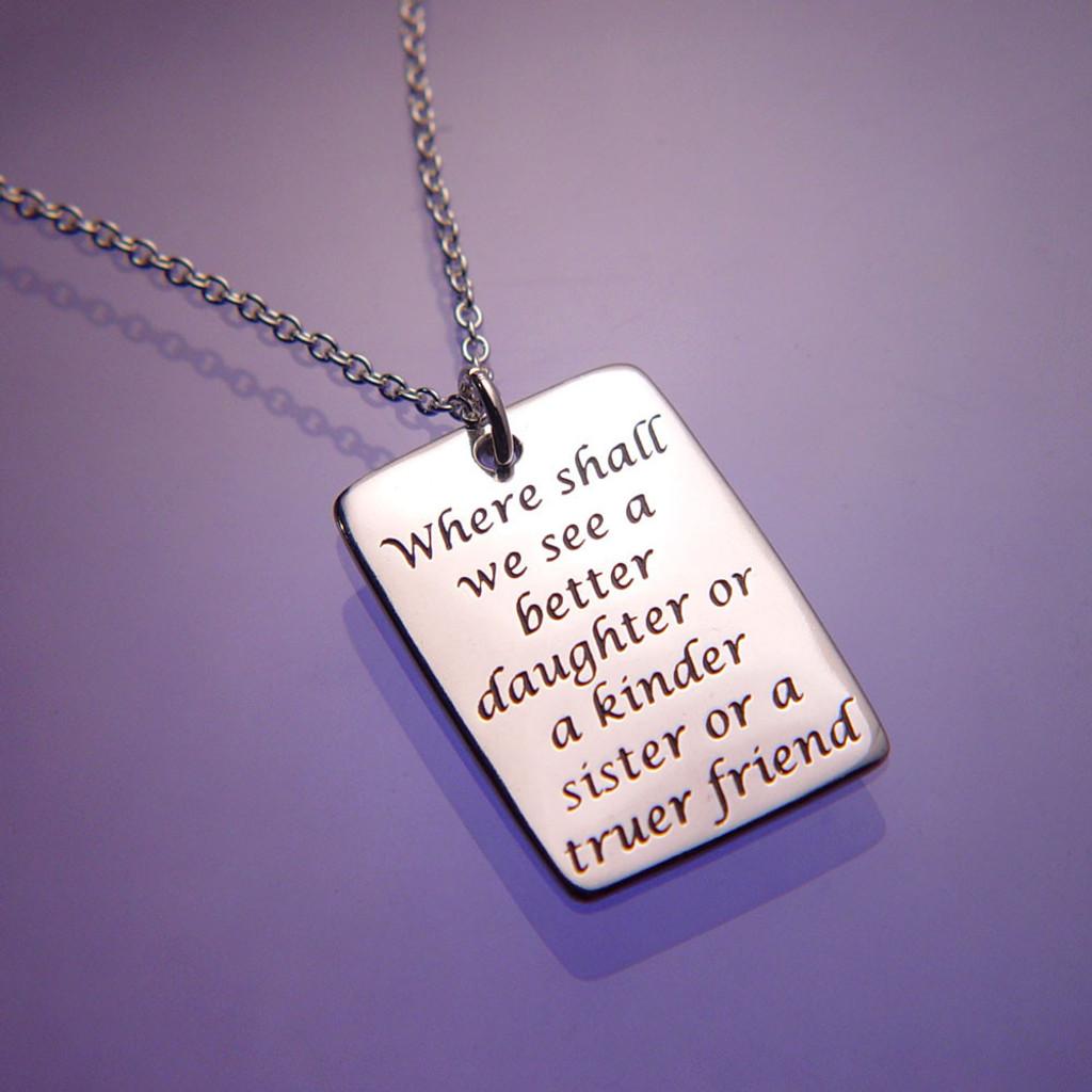 Daughter Sister Friend Jane Austen Necklace