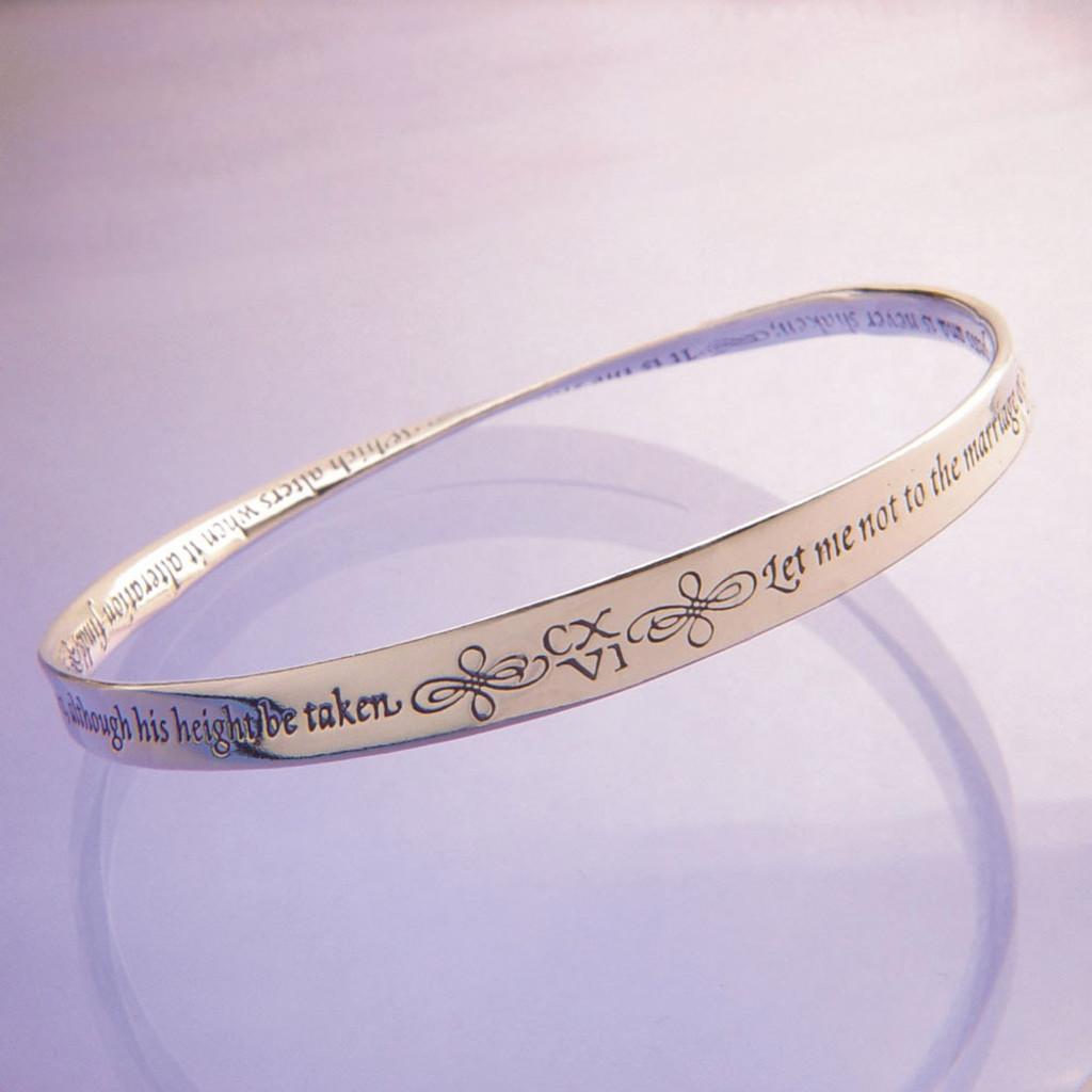 Shakespeare Love Sonnet 116 Mobius Bracelet