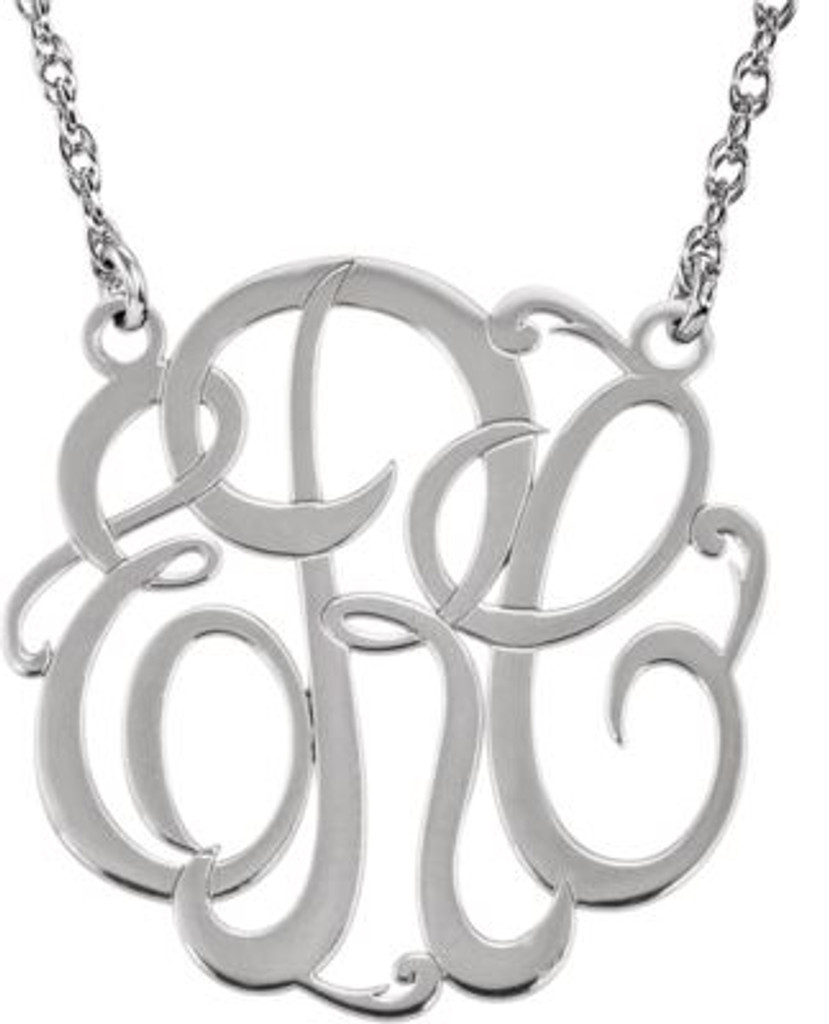 Custom Monogram Necklace in Sterling SIlver