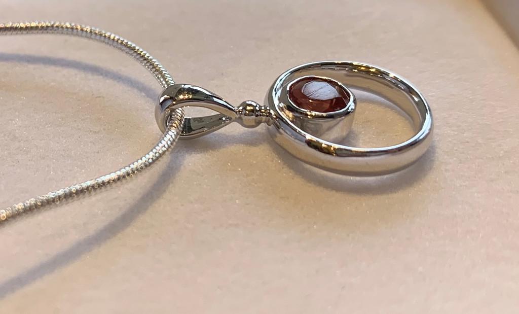 Oregon Sunstone Circle Necklace