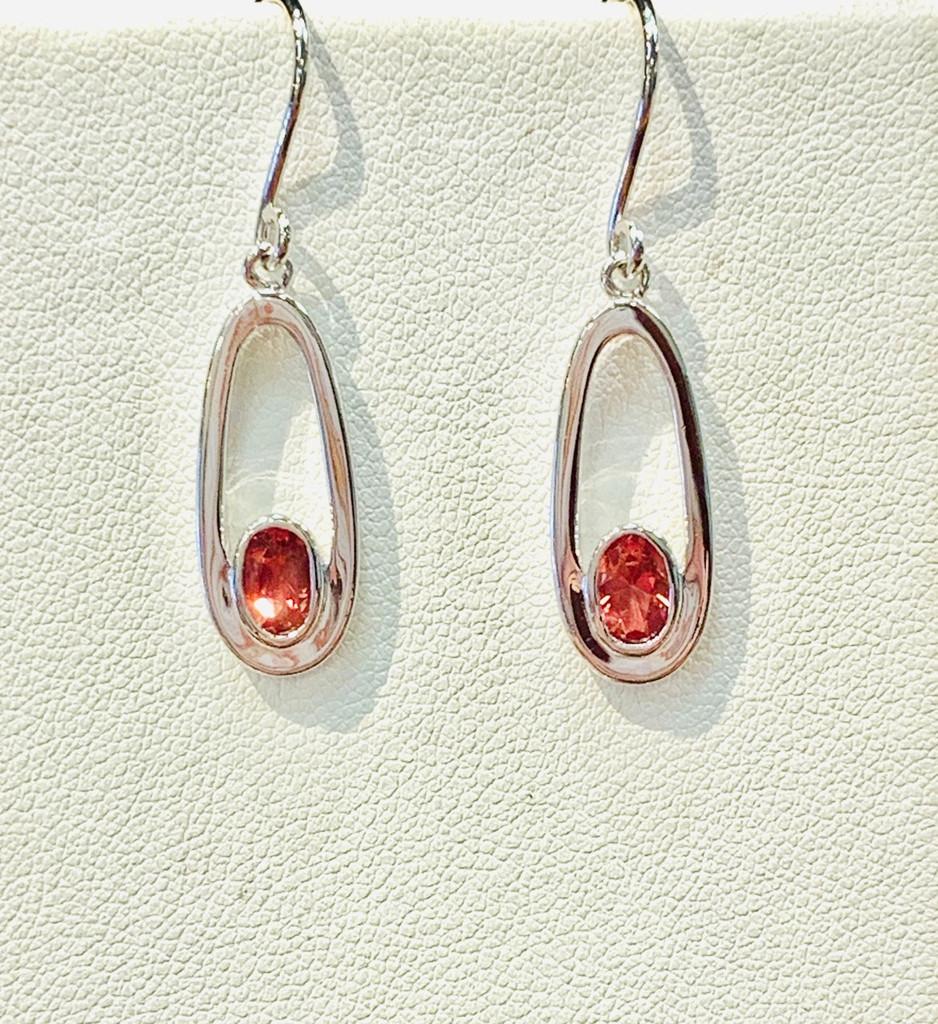 Oval Oregon Sunstone Earrings