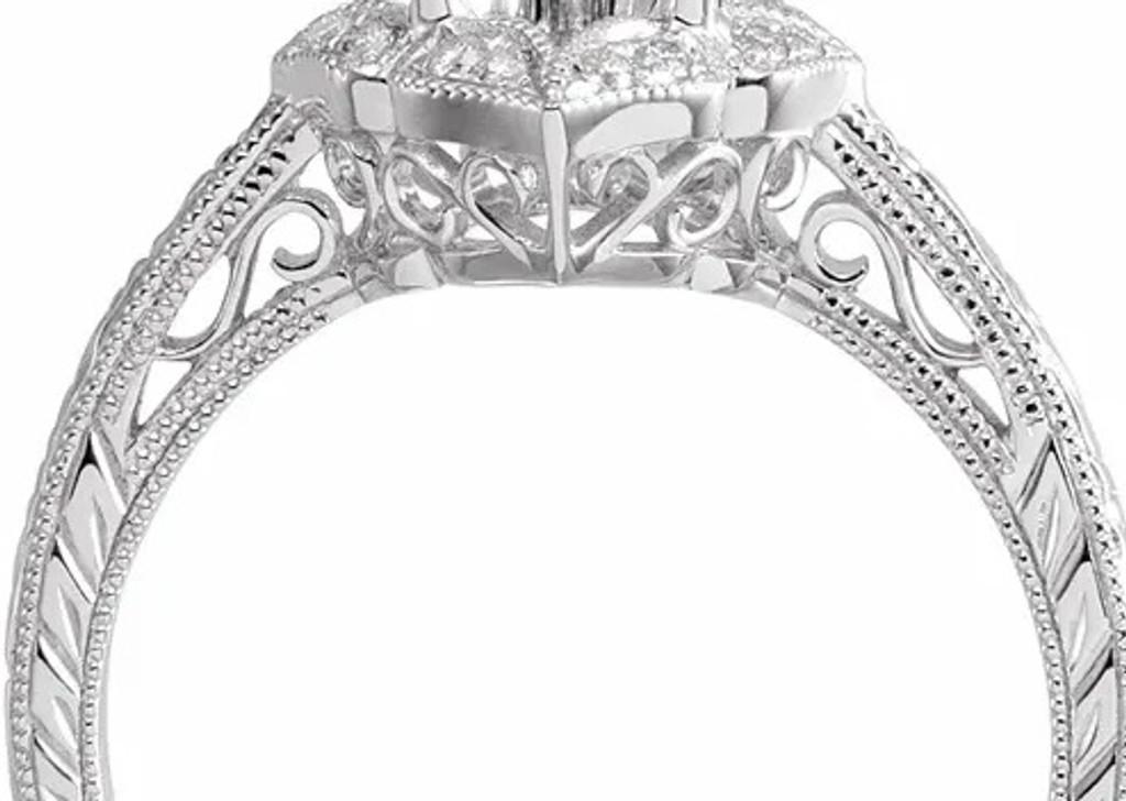 1 Carat Diamond  Engagement Ring 14K White Gold