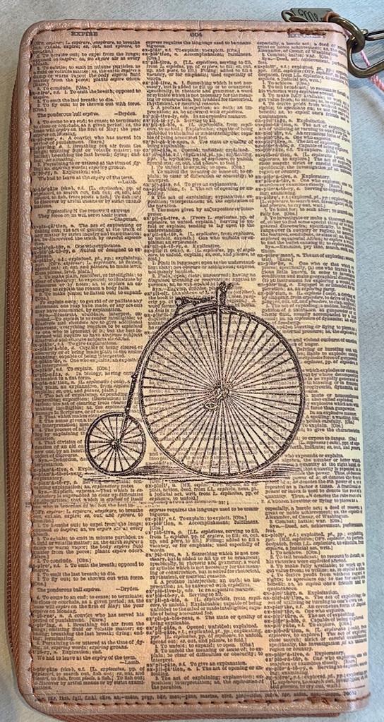 Vintage Bicycle Wallet Vegan Leather