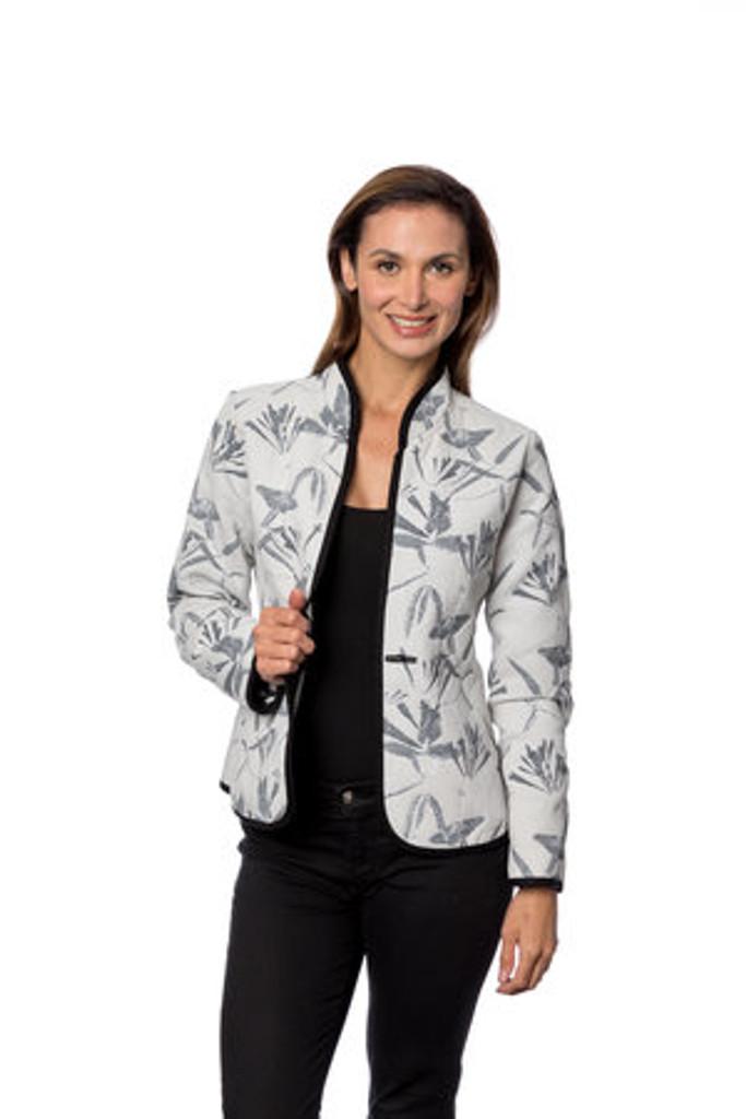 Classic Honeysuckle Reversible Jacket, Onyx