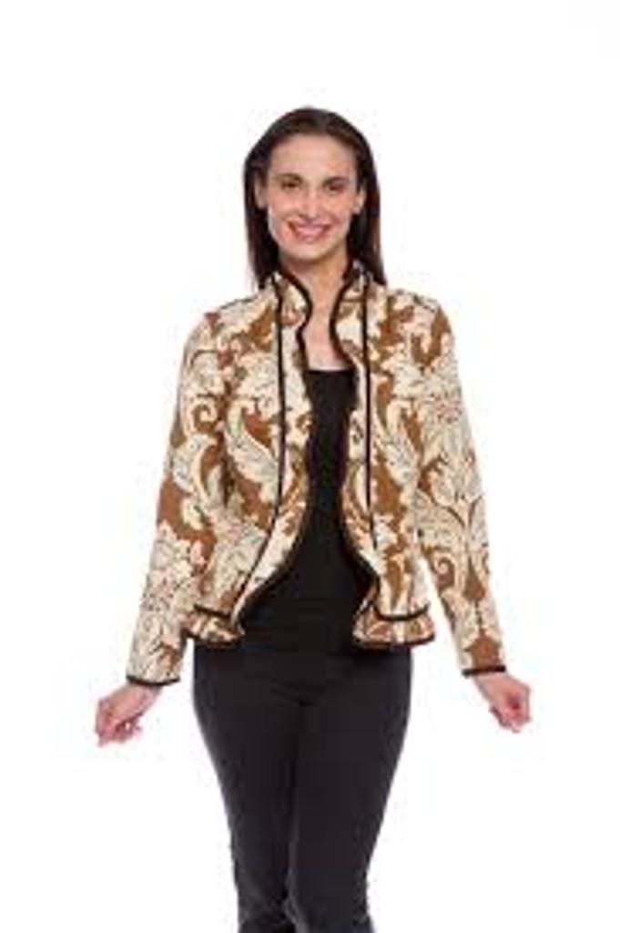 Ruffle Beacon Hill Reversible Jacket, Brown