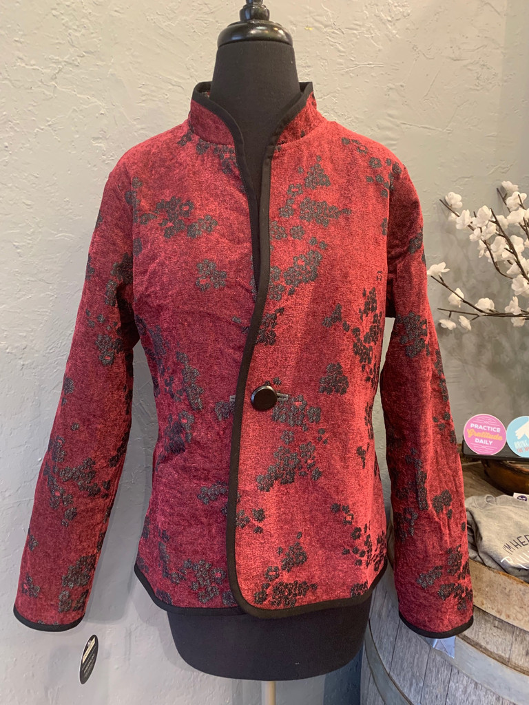 Classic Blossom Reversible Jacket, Ruby