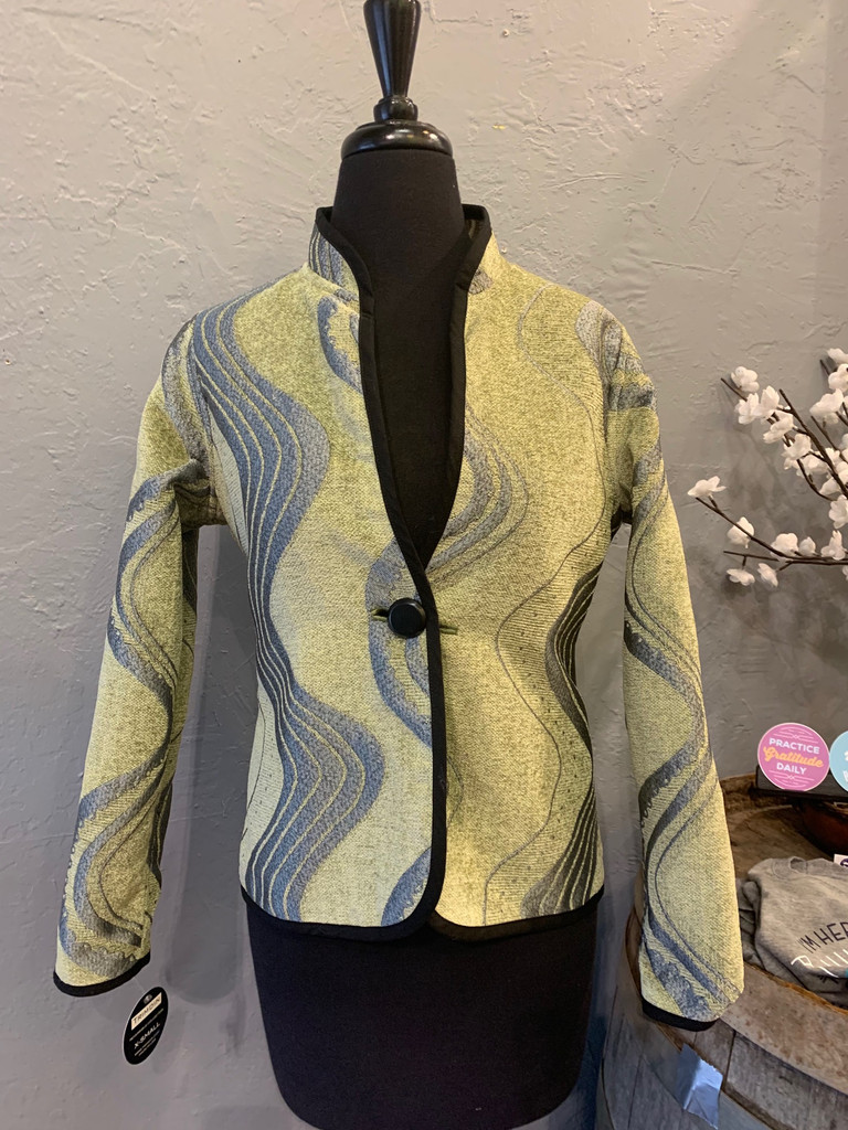 Classic Wave Reversible Jacket, Lime