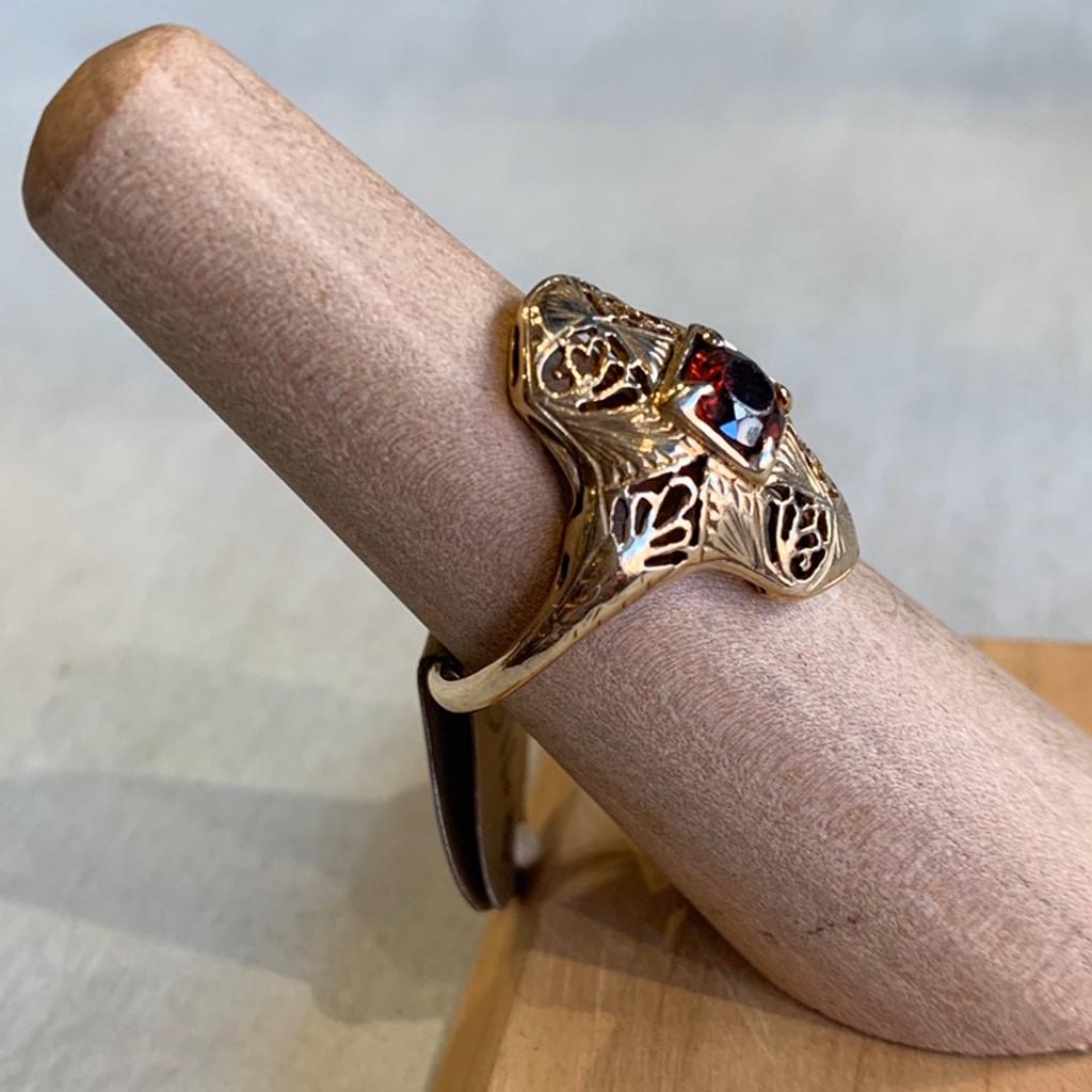 14k Antique Garnet Ring, Size  5 1/2