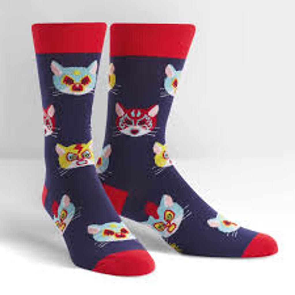 Men's Crew Socks, Gato Libre