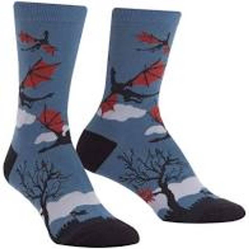 Men's Crew Socks, Twilght Flight
