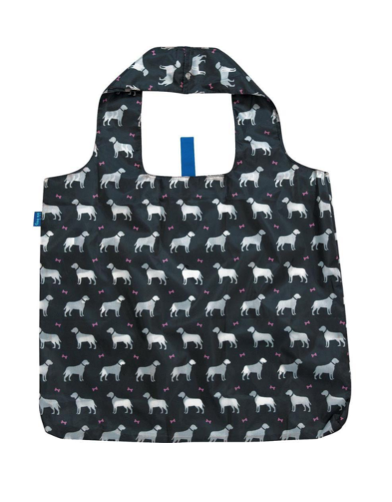 Dogs Black Reusable Shopping Tote