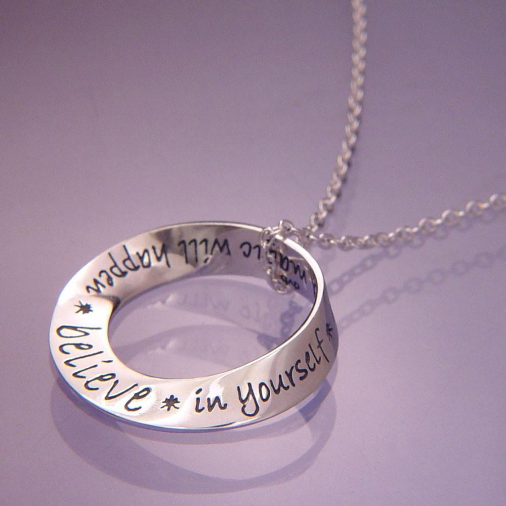 Believe in Yourself Silver Mobius Necklace