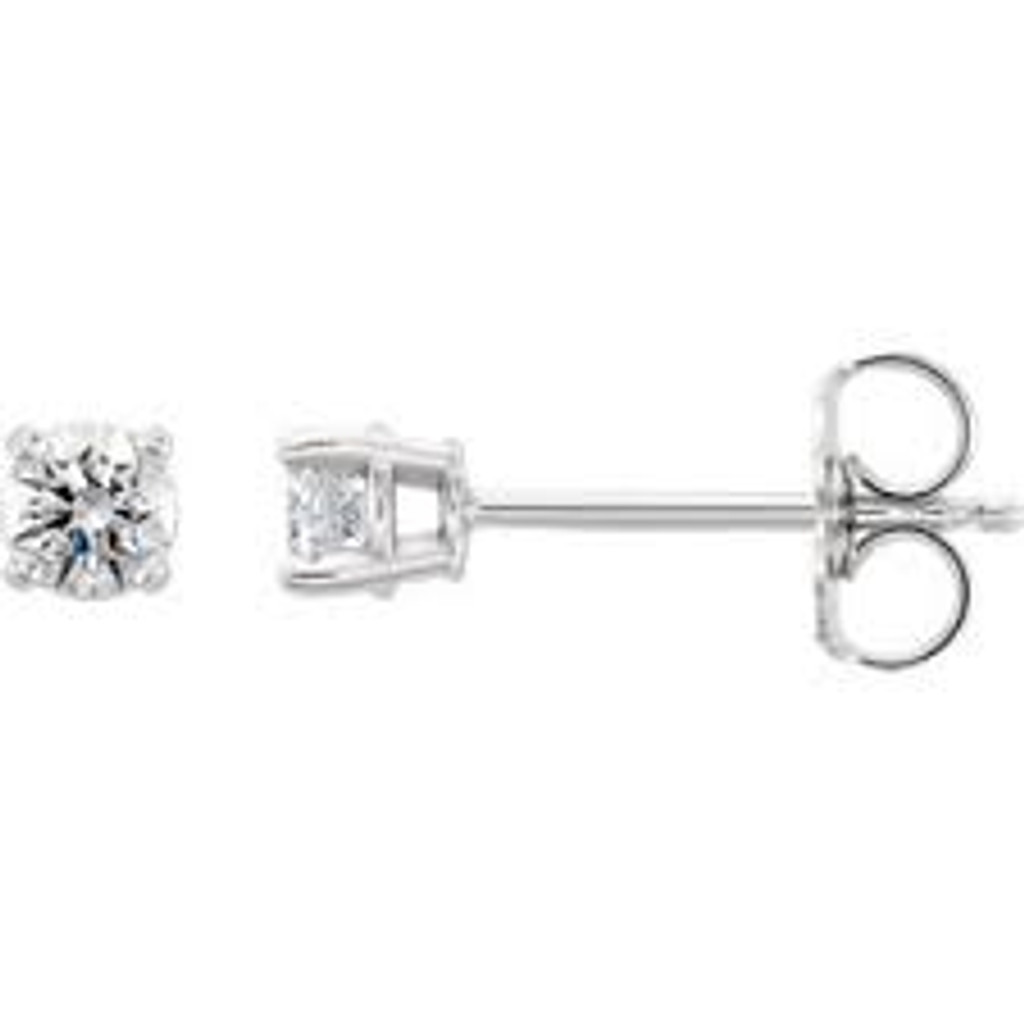 14k Gold 1/3 CTW Diamond Stud Earrings