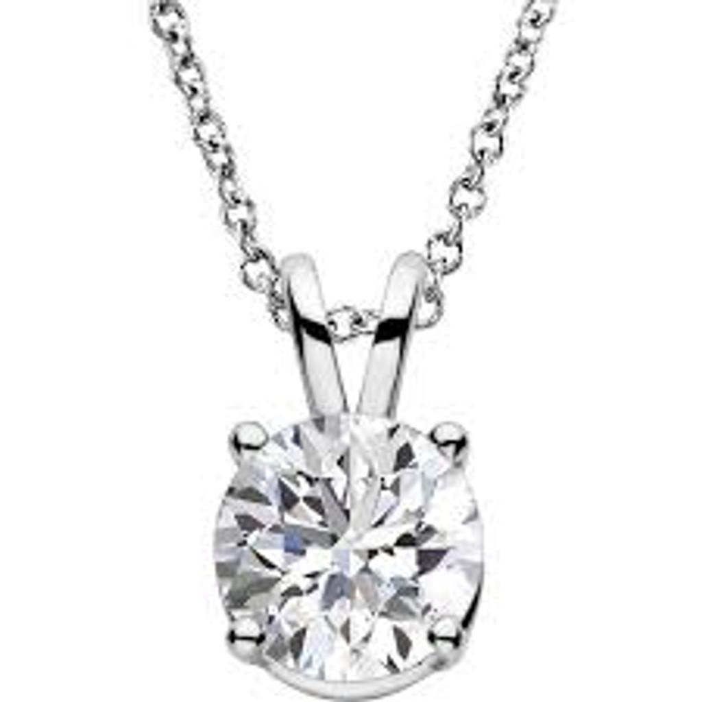14k Gold 1/4 CT Diamond Solitaire Necklace
