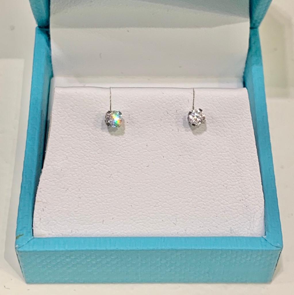 18k White Gold 1/5 CTW Diamond Stud Earrings