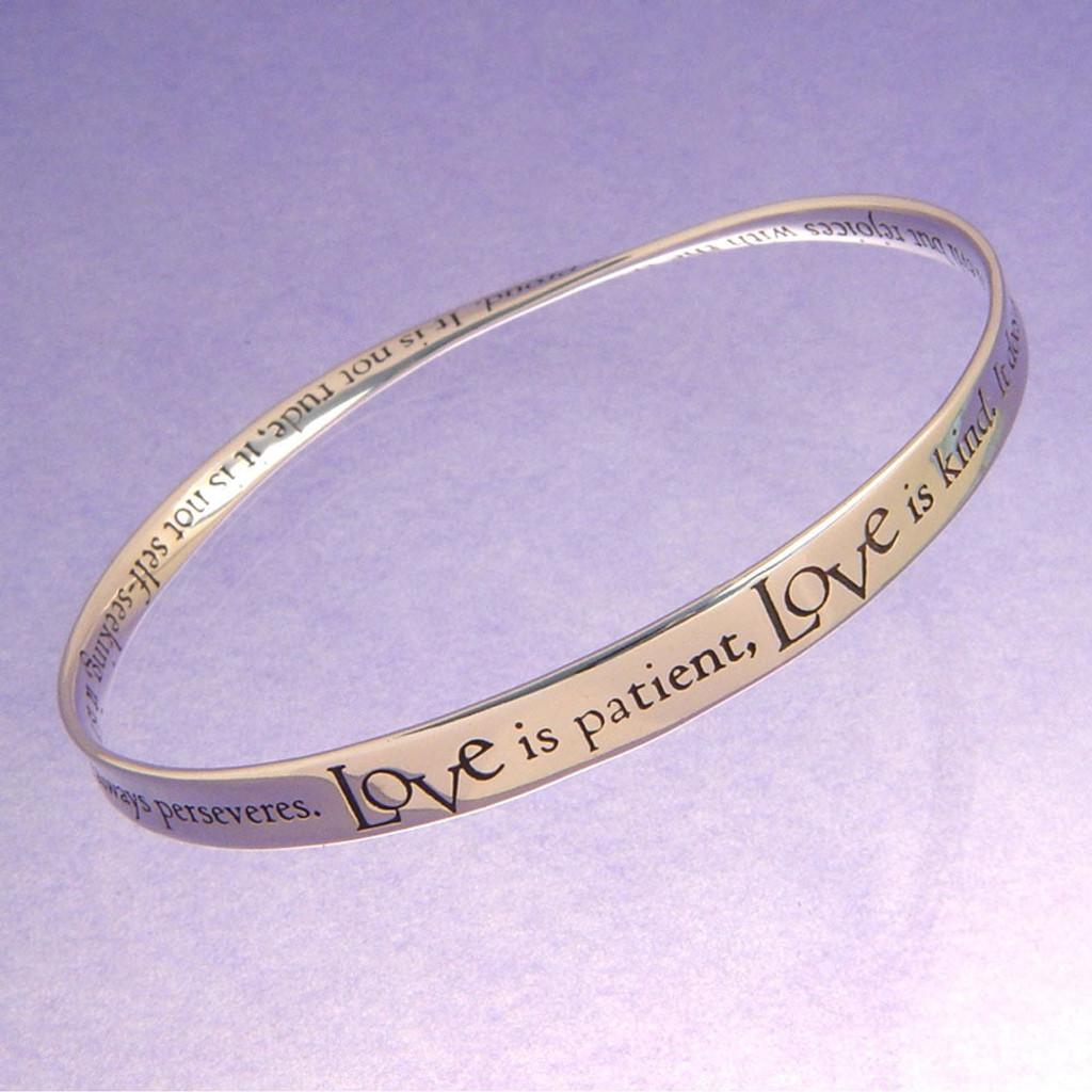 1 Corinthians Love is Patient Mobius Bracelet