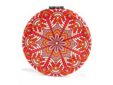 Mandala Mirror, Red-Orange