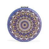 Mandala Mirror, Dark Blue & Yellow