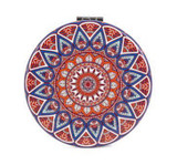 Mandala Mirror, Red & Blue