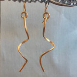 Long Loose Spiral Gold Filled Earring