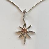 Oregon Sunstone Sunburst/Star Necklace