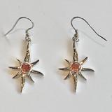 Oregon Sunstone Sunburst/Star Earrings
