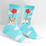 Women's Crew Socks, Pup, Pup and Away