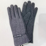 Gray Cable Stitch Touchscreen Gloves