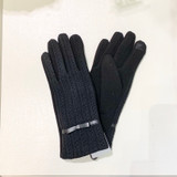 Black Cable Stitch Touchscreen Gloves