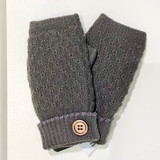 Warm Fingerless Gloves With Button
