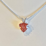 Oregon Sunstone 8mm Trillion Pendant Necklace Silver