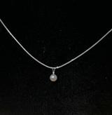 14k 5-6mm Akoya Pearl and Diamond Pendant