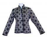 Classic Trellis Reversible Jacket, Black/Beige