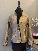 Classic Blossom Reversible Jacket, Silver
