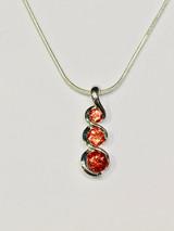 Triple Oregon Sunstone Pendant Necklace
