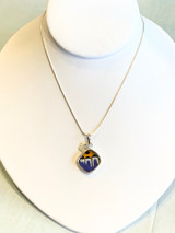 Eco-Friendly Orange-Blue Butterfly Wing Necklace