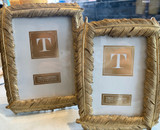 """Golden Feather Frame, 5"""" x 7"""""""