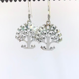 Mexican Tree of Life Silver Earrings