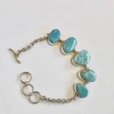Five Stone Larimar Bracelet