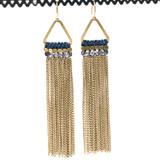 Chain Tassel Brass Earrings