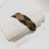 Triple Diamond Dark Brass Bracelet