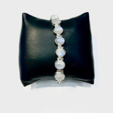 Oval Faceted Moonstone Toggle Bracelet