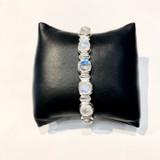 Square Faceted Moonstone Hinge Bracelet