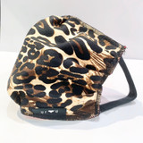 Washable Face Mask in Cotton, Leopard Print