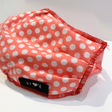 Washable Youth Face Mask in Cotton, Pink Polka Dot