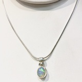 Small Oval Opal Pendant