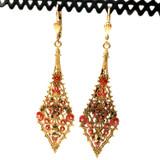 Diamond Dangle Swarvoski Crystal Earrings