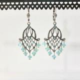 Chandelier Ice Blue Swarovski Crystal Earrings