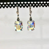 Rectangle Swarovski Crystal AB Earrings