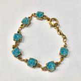Square Ice Blue Swarovski Crystal Bracelet